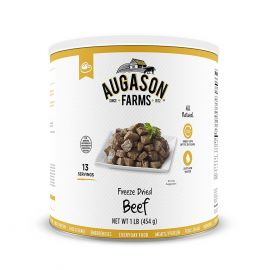Augason Farms Freeze Dried Beef Chunks 1 lb No. 10